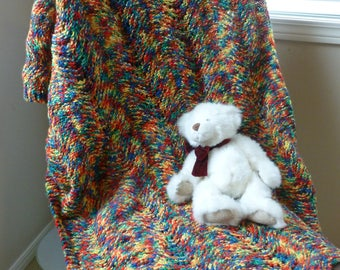 Multicoloured Knit Blanket