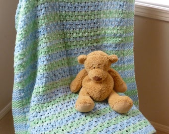 Blue & Green Knit Blanket