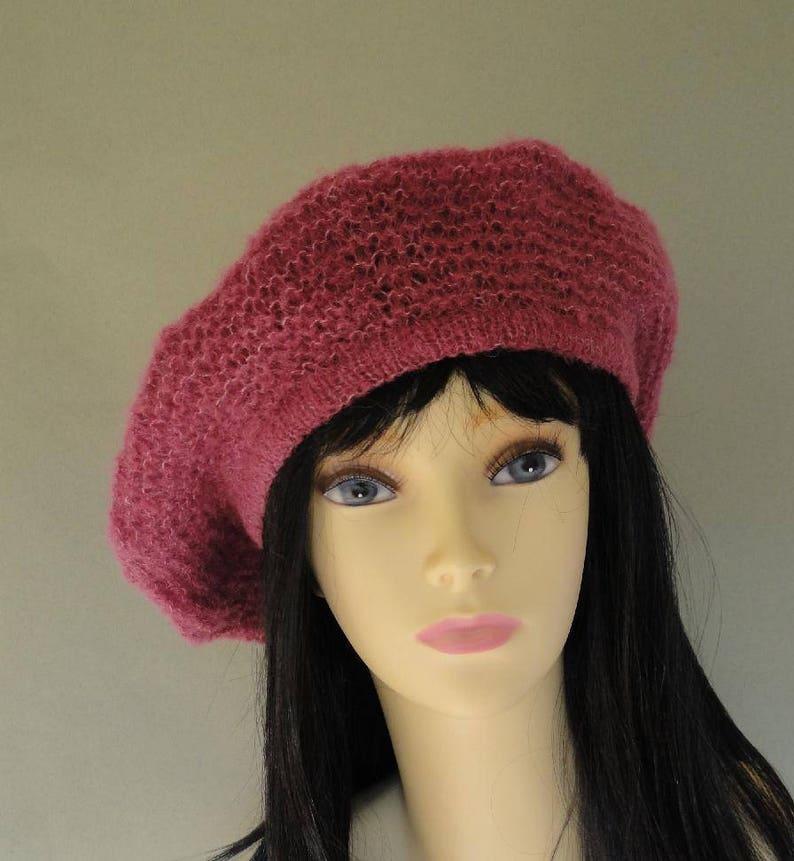 a1e742e3 Hat Beret Basque Alpaca Silk Heather Large/Extra Large Hand   Etsy