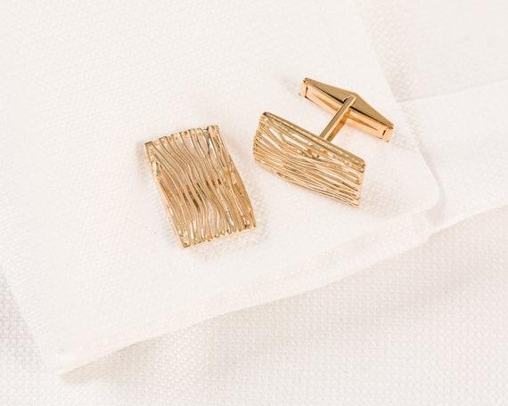 Vintage 14K Gold Cufflinks, 14K Cufflinks, Brutali