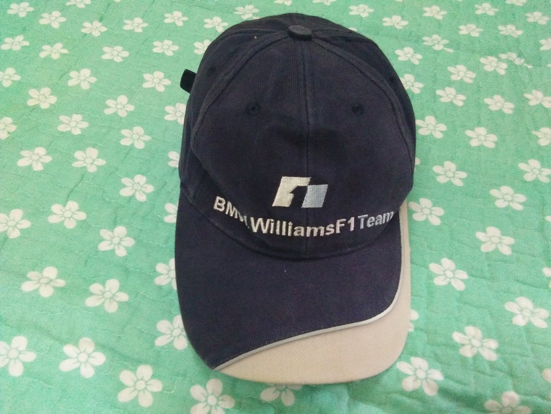 40957beac27 Vintage BMW WILLIAMS F1 TEAM cap embroidered logo free size