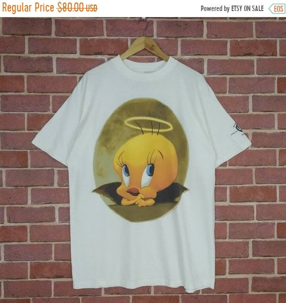 Vintage 90s Tweety Cartoon Looney Tunes T-shirt