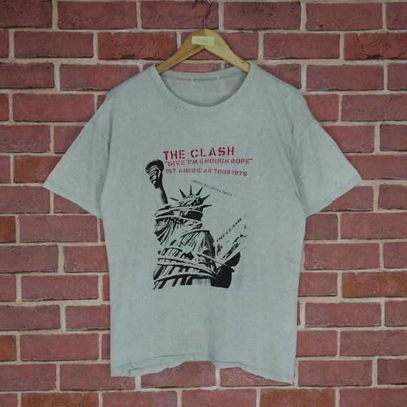 Rare!! Vintage THE CLASH Photo Print Punk Rock Ban