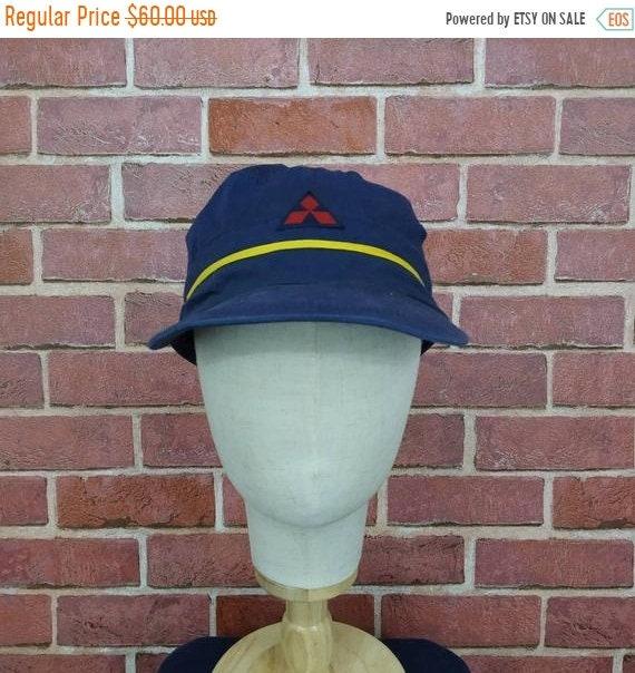 Vintage Mitsubishi Logo Trucker Caps Hats
