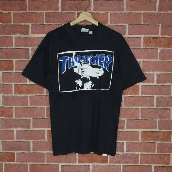 Rare!! Vintage 90s Thrasher Skateboard Thrasher Ma