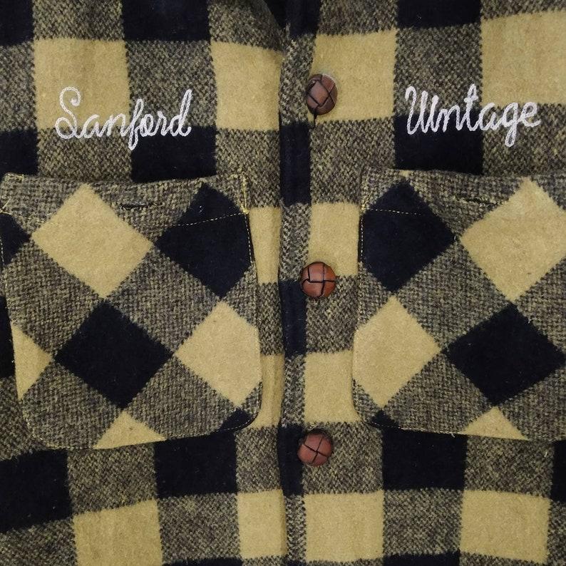 Sanford Vintage Double Pocket Workwear Style Button Down medium size Rare!