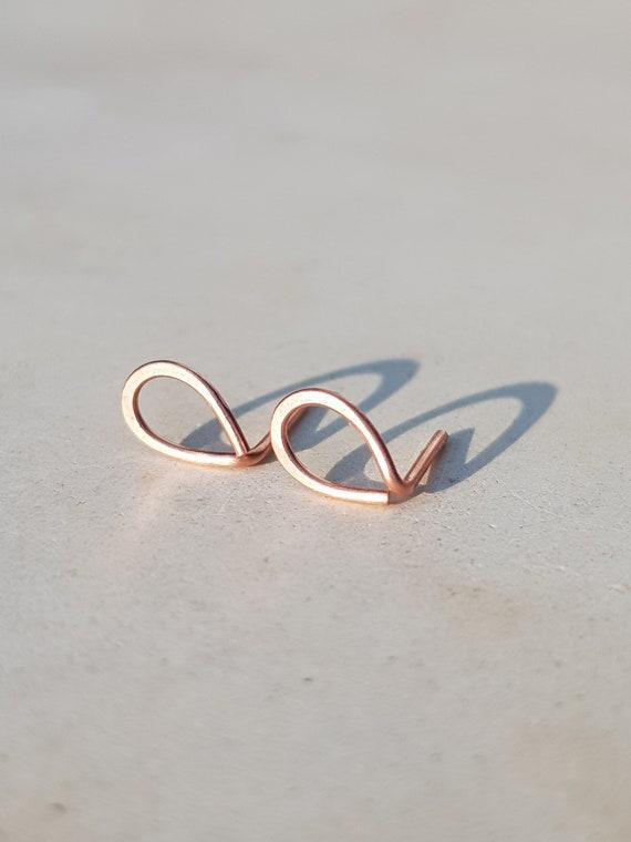 MoAndy Earring Jewelry Stainless Steel Womens Stud Earrings Circle Golden Earring for Women 7x10MM