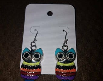 Sterling Silver Owl Earings