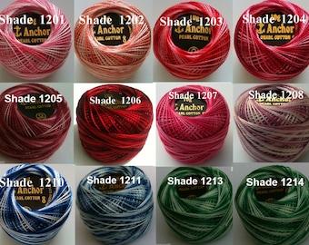 85 M Marron 10 solide ANCHOR coton perlé Crochet Boules Taille Nº 8 Thread