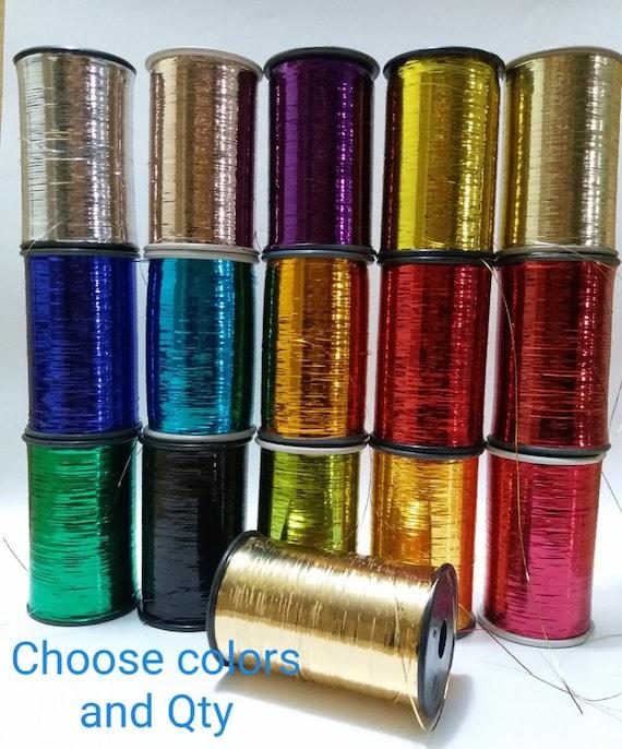 3 Cone Gold Metallic Machine Embroidery Threads 10000 yards