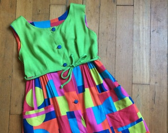 6d612a1bb Vintage 1960s mini dress // 60s empire waist dress