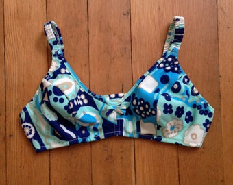 vintage 1970s psychedelic bikini top