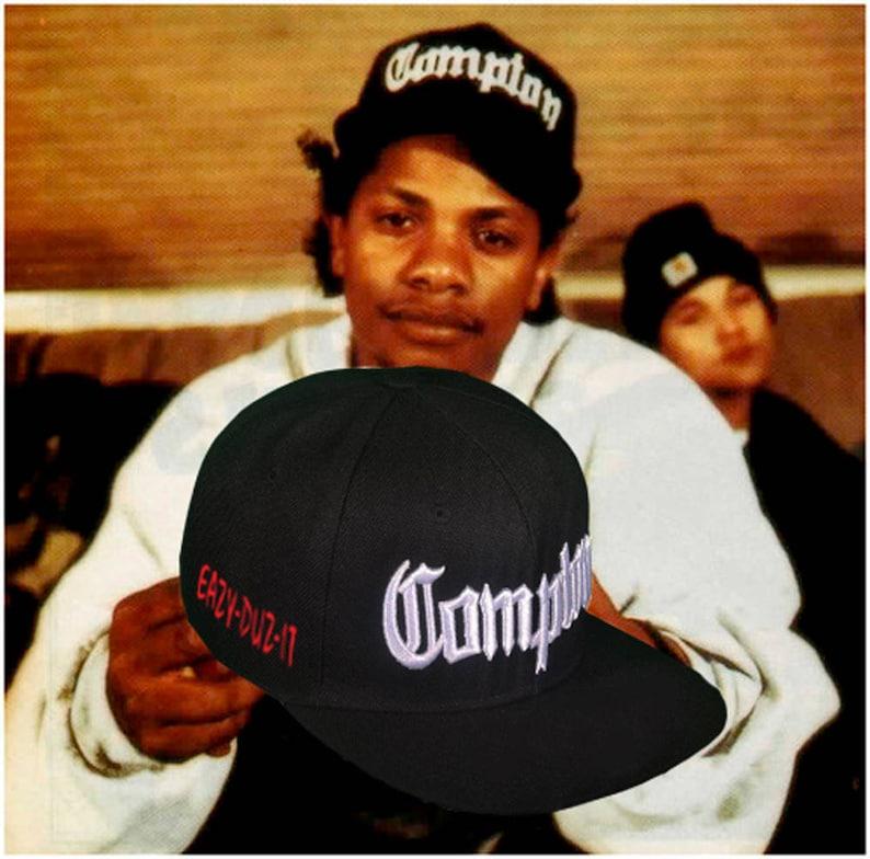 9f889f54d NWA Compton Snapback 3D Embroidery Eazy-E Retro Design Eazy-Duz-It