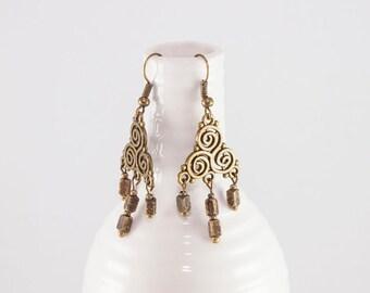 Sommer Kollektion Messing Kupfer handgefertigte Ohrringe