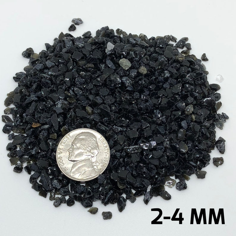 Crushed Obsidian, ALL SIZES, powder, gravel, crushed crystal, small ,  crystal gravel