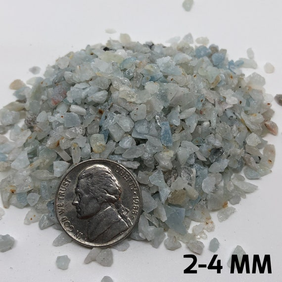 Crushed Aquamarine, ALL SIZES, Aquamarine powder, Aquamarine crystal,  Crushed crystal, Aquamarine gravel, crystal gravel, small aquamarine