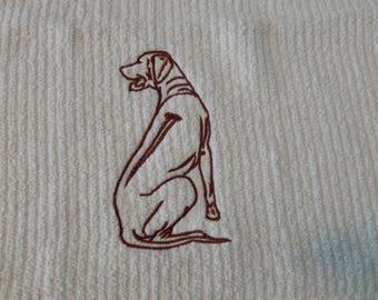 Rhodesian Ridgeback Custom Embroidered Kitchen Towel