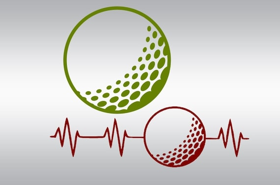 Golf Ball Heartbeat Svg Golfing Svg Golfer Svg Golf Etsy