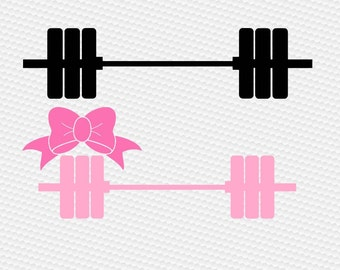 Crossfit weights svg, Barbell svg, Gym svg, Fitness svg, Workout svg, Girl svg, Monogram barbell svg, iron on, Svg, DXF, Png, Pdf, Eps