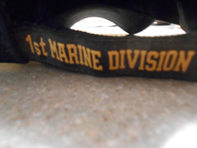 ASTRONAUT JOHN GLEN signed 1st marine division hat