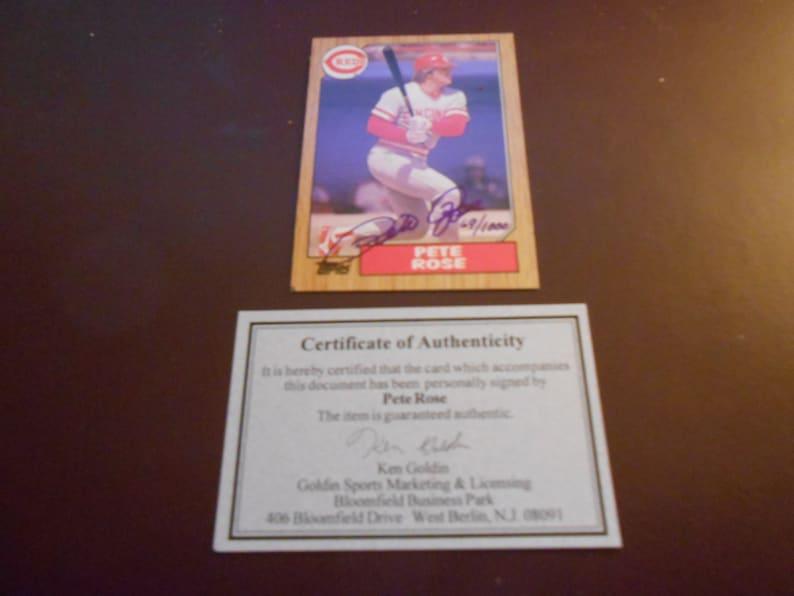 1987 Topps Pete Rose Signed Baseballl Cardgolden Sports