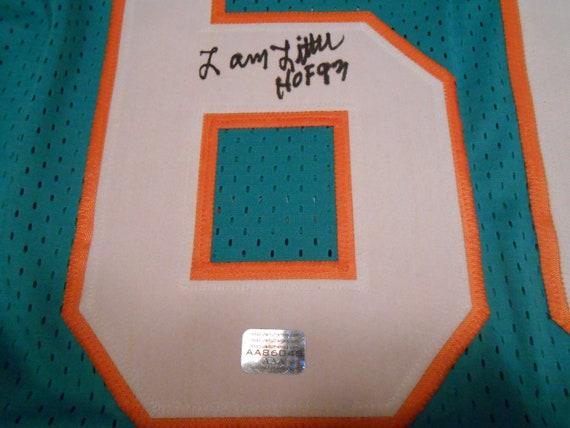LARRY LITTLE SIGNED miami dolphins custom pro-style jerseyaaa
