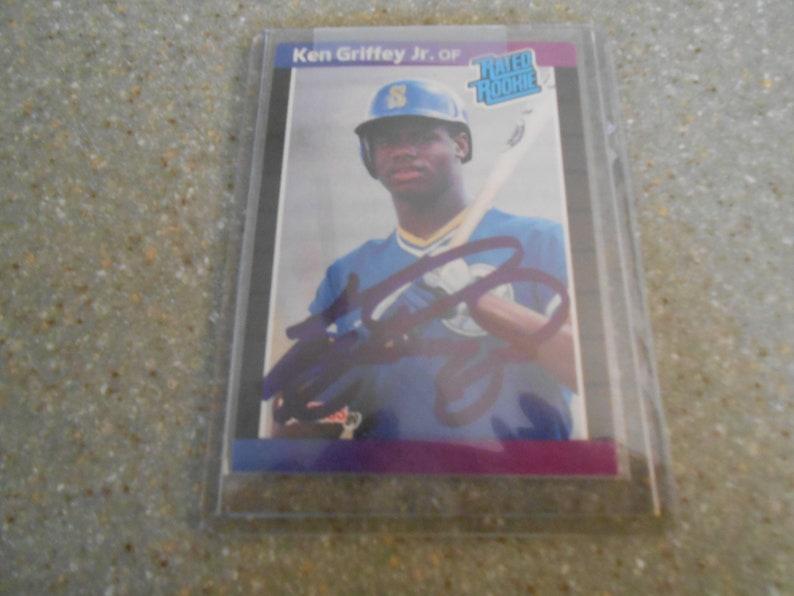 1989 Donruss Ken Griffey Jr Rookie Card Autographcoa