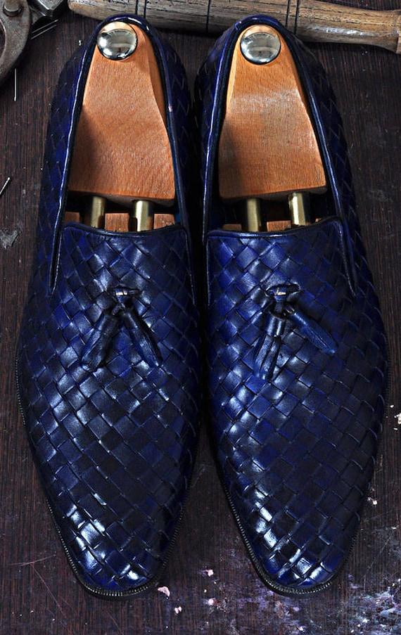 TucciPolo NN Borlo fait à à à la main en cuir italien luxe mocassins pompons chaussure pour homme | Outlet Online Shop  254b01