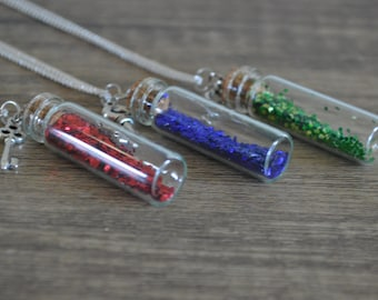 Magic Bottle Silver Necklace