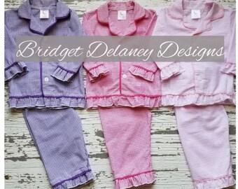 Girl s gingham pajamas set 196be8362