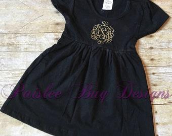 Monogram Dress, Personalized Dress, Baby Shower Gift, Baby Girl Gift, Personalized Gift