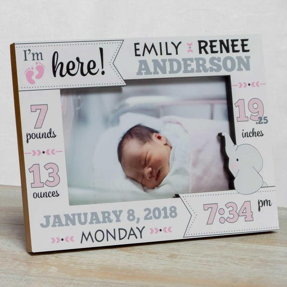 Personalized Baby Picture Frame Baby Girl Picture Frame New Etsy