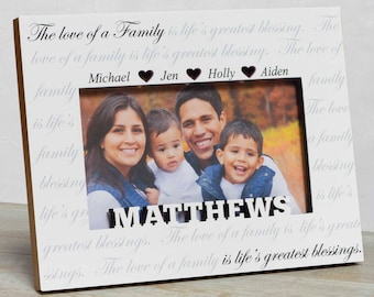 Personalized Family Picture Frame, Family Picture Frame, Family Name Frame, Family Frame, Family Gift, Frame For Mom, Frame For Family