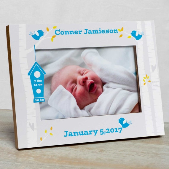 Personalized Baby Picture Frame Baby Boy Picture Frame New Etsy