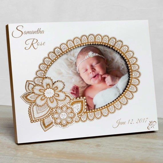 Personalized Baby Picture Framebaby Girl Picture Frame Baby Etsy