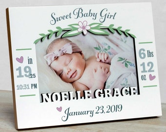 Personalized Baby Picture Frame, Baby Girl Picture Frame, New Baby Girl Frame, Baby Girl Frame, Picture Frame Baby Girl , Baby Frame