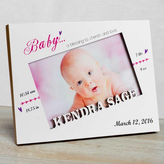 Personalized Baby Picture Frame Baby Girl Picture Frame New | Etsy