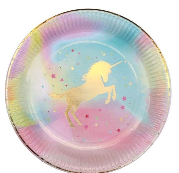 Unicorn Plates - Unicorn Party - Unicorn Birthday - Unicorn Tableware - Unicorn Party Decorations - Unicorn Party Supplies - Unicorns Decor from ...  sc 1 st  Etsy Studio & Unicorn Plates - Unicorn Party - Unicorn Birthday - Unicorn ...