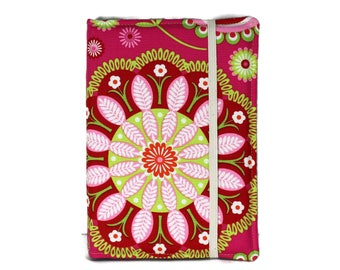 Kindle Case Hardcover, Pink and Lime Paisley Kindle Cover, iPad mini Case, Nook Cover, Kindle Case, iPad mini Case, Nook Case, Ereader Case
