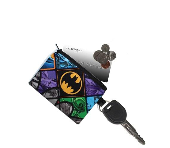 Le titulaire de carte de crédit, porte-clés Batman, titulaire de la carte de Mario, bourse, porte-monnaie, porte-clés de la carte de crédit, porte-clé porte monnaie chaîne