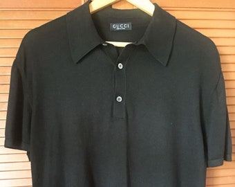 e4b84d25156 Authentic Preowned GUCCI Black Polo T-shirt