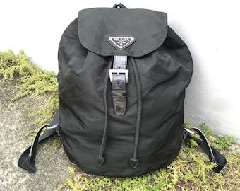 eac271d00f38 Preowned Authentic PRADA Vela Black Nylon Mini Bacpack