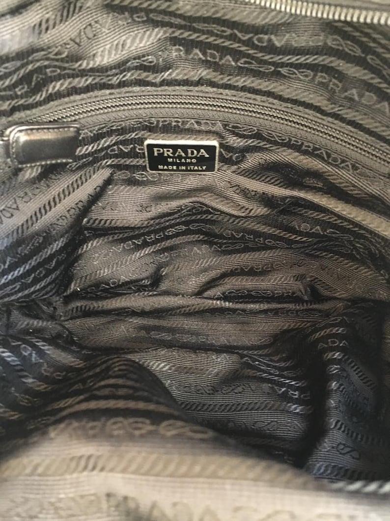 3972e0a836ef0d Mark Down Authentic Vintage PRADA Vela Tessuto Black Nylon | Etsy