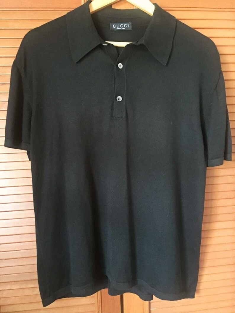 dc1279efb71 Mint Condition Authentic Preowned GUCCI Black Polo T-shirt