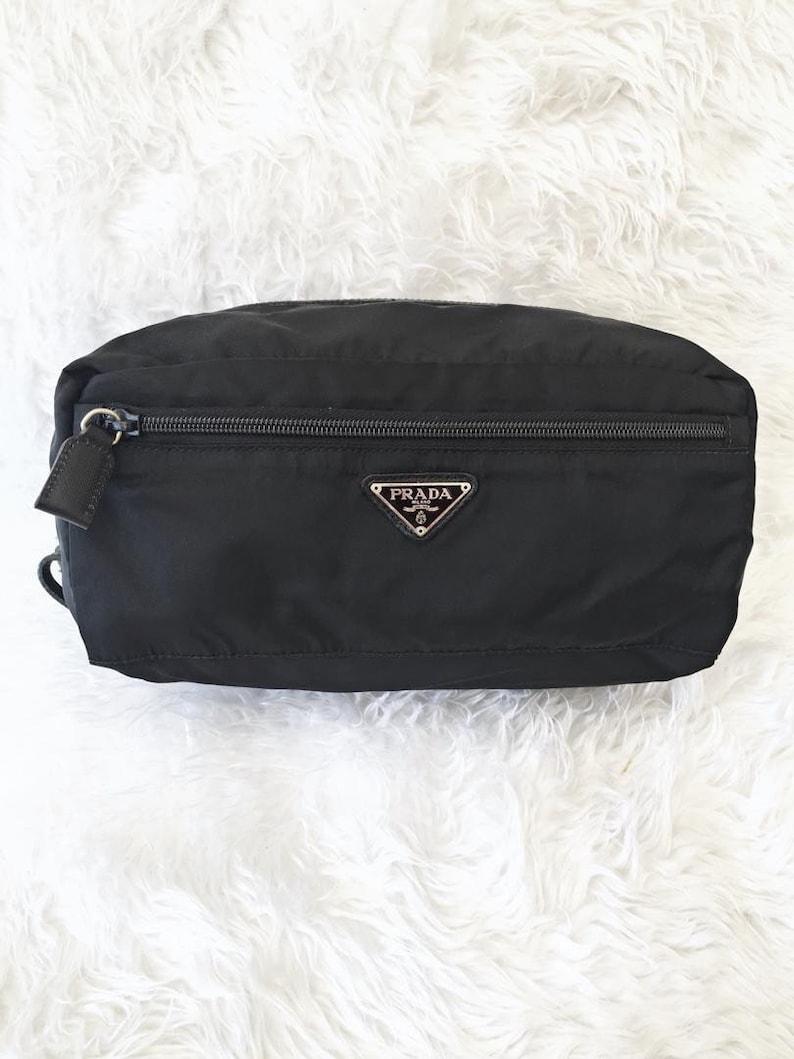 4a0fba7f74bc Mint. Preowned Authentic PRADA Tessuto Saffiano Black Nylon