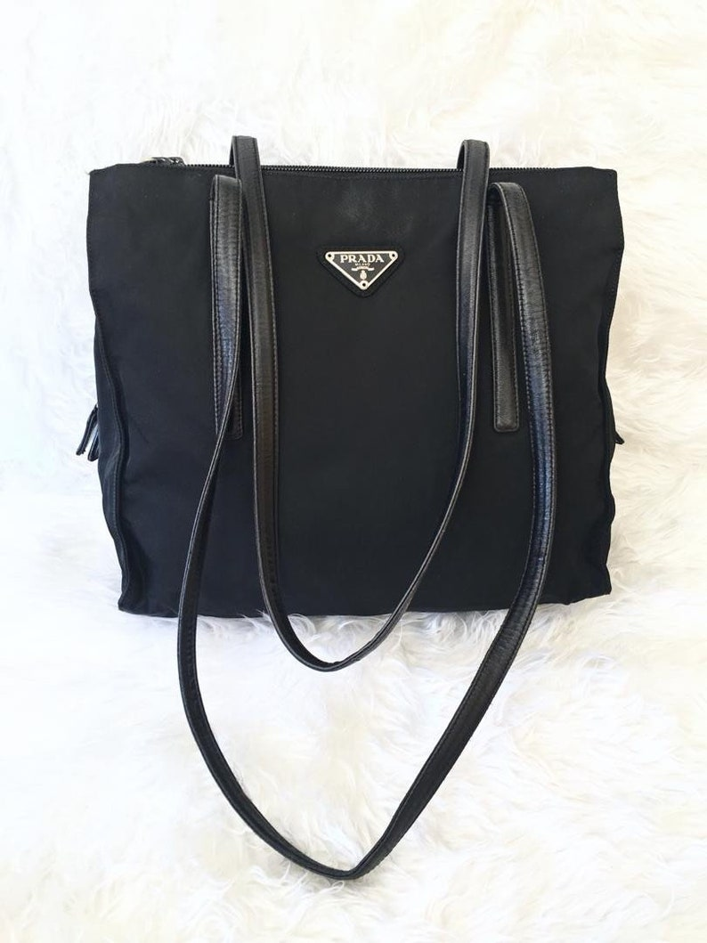 b284b9967a5c Best Deal Authentic Vintage PRADA Vela Tessuto Black Nylon