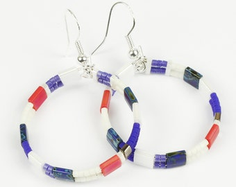 MINIMALIST Earrings with Sterling Silver Hooks and Beads; LIGHTWEIGHT Elegant Hoop Earrings UK,Her,Birthday Gifts For Friends, Women, Sister