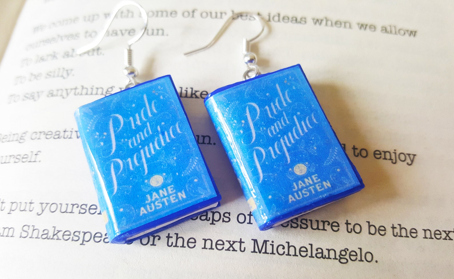 Pride and Prejudice earrings