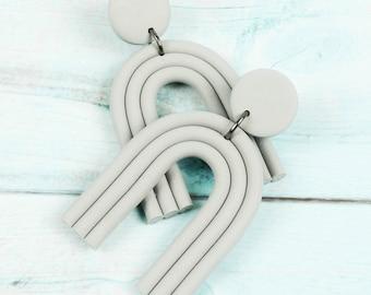 U SHAPE EARRINGS   Arch   Lightweight   Handmade Wishbone   Statement Earring   Geometric Dangle Earrings, Summer Style Gifts For Friends UK
