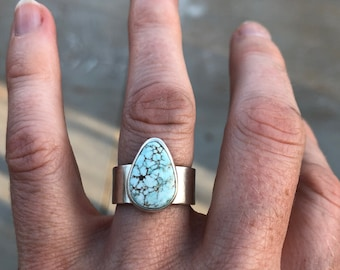 Dry Creek Turquoise Ring • Sterling silver and turquoise jewelry • Ring Size 5 1/2